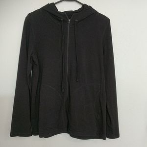 Eileen Fisher Black Jacket With Hood Size Medium